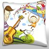 Maxwell Dickson Father Playing Violin with Children Throw Pillow