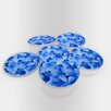 Maxwell Dickson Blue Flowers Coaster (Set of 6)