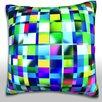 Maxwell Dickson Abstract Mosaic Textures Throw Pillow