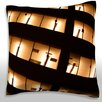Maxwell Dickson Illuminated Office Building Windows Throw Pillow