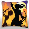 Maxwell Dickson Open Air Concert Throw Pillow