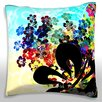 Maxwell Dickson Colorful Flowers Montage Throw Pillow