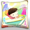 Maxwell Dickson Portrait of Boy Laying on Book Throw Pillow