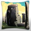 Maxwell Dickson A View of Stonehenge in Southern England Throw Pillow