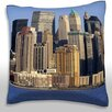 Maxwell Dickson Horizontal View of New York City USA Throw Pillow