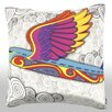 Maxwell Dickson Colorful Bird Plane Throw Pillow