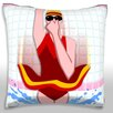 Maxwell Dickson Girl Diving in Tile Throw Pillow