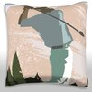Maxwell Dickson Golfer Swinging Golf Club Throw Pillow