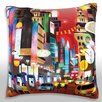 Maxwell Dickson Busy City Collage Throw Pillow
