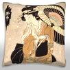 Maxwell Dickson Geisha Color Moon Throw Pillow