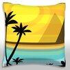 Maxwell Dickson Sunset Along Beach Throw Pillow