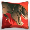 Maxwell Dickson Prehistoric Dinosaur Throw Pillow