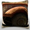Maxwell Dickson Side Profile of a Rusted Farm Truck, California, USA Throw Pillow