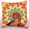 Maxwell Dickson Pink Peacock Swirl Throw Pillow