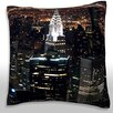 Maxwell Dickson New York City at Night Throw Pillow