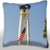 Maxwell Dickson World Tower, Los Angeles Throw Pillow