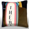 Maxwell Dickson High Section View of a Theater Sign, Chicago Illinois Throw Pillow