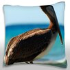 Maxwell Dickson Pelican Perched on Dead Tree Throw Pillow