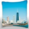 Maxwell Dickson Panoramic View of the City, Chicago, Illinois, USA Throw Pillow