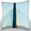 Maxwell Dickson Leonard P. Zakim Bunker Hill Bridge, Boston Throw Pillow