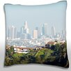 Maxwell Dickson Panoramic View of  Los Angeles, California, USA Throw Pillow