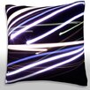 Maxwell Dickson Streaks of Light Throw Pillow