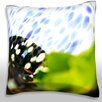 Maxwell Dickson Close-Up of Leaf Throw Pillow