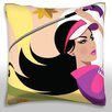 Maxwell Dickson Woman Golfing Throw Pillow