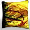 Maxwell Dickson Bright Exploding Background Throw Pillow