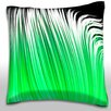 Maxwell Dickson Green Linear Pattern Throw Pillow