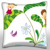 Maxwell Dickson Exterior Emitting Flowering Tree Chimney Throw Pillow