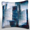 Maxwell Dickson Mirrored Building Structure Throw Pillow