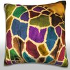 Maxwell Dickson Abstract African Giraffe Throw Pillow