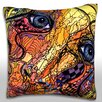 Maxwell Dickson Abstract Illustration Portrait Throw Pillow