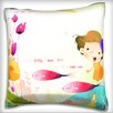 Maxwell Dickson Portrait of Girl in Underwater Throw Pillow