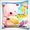 Maxwell Dickson Child Sleeping on Teddy Bear Throw Pillow