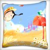 Maxwell Dickson Portrait of Girl in Farm with Letter Box Throw Pillow