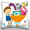 Maxwell Dickson Recycling Objects Throw Pillow