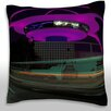 Maxwell Dickson Los Angeles Airport Control Tower and Buildings Throw Pillow