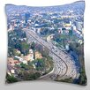 Maxwell Dickson Los Angeles Highway Downtown Throw Pillow