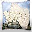 Maxwell Dickson Texas Sign at Border Throw Pillow