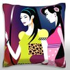 Maxwell Dickson Women Shopping Throw Pillow