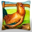 Maxwell Dickson Rooster on Farm Throw Pillow