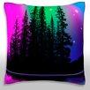 Maxwell Dickson Northern Lights Over Alpine Lake Throw Pillow