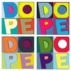 Maxwell Dickson 'Dope Colors' 4 Piece Textual Art on Wrapped Canvas Set
