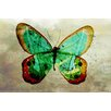 """Maxwell Dickson """"Butterfly"""" Graphic Art on Canvas"""