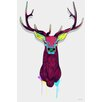 "Maxwell Dickson ""Elk Head"" Graphic Art on Canvas"