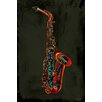 Maxwell Dickson Sax Graphic Art on Canvas