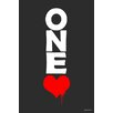"Maxwell Dickson ""One Love"" Textual Art on Canvas"