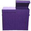 <strong>Color Pop Solid Folding Double Laundry Basket</strong> by Modern Littles